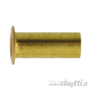 rivetto tubolare in ottone