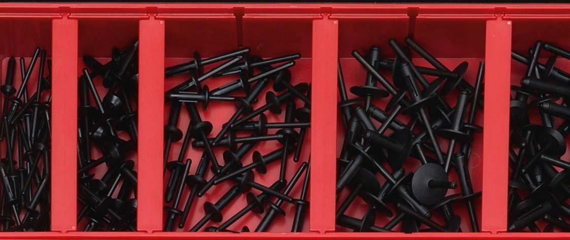 scatola di rivetti per plastica